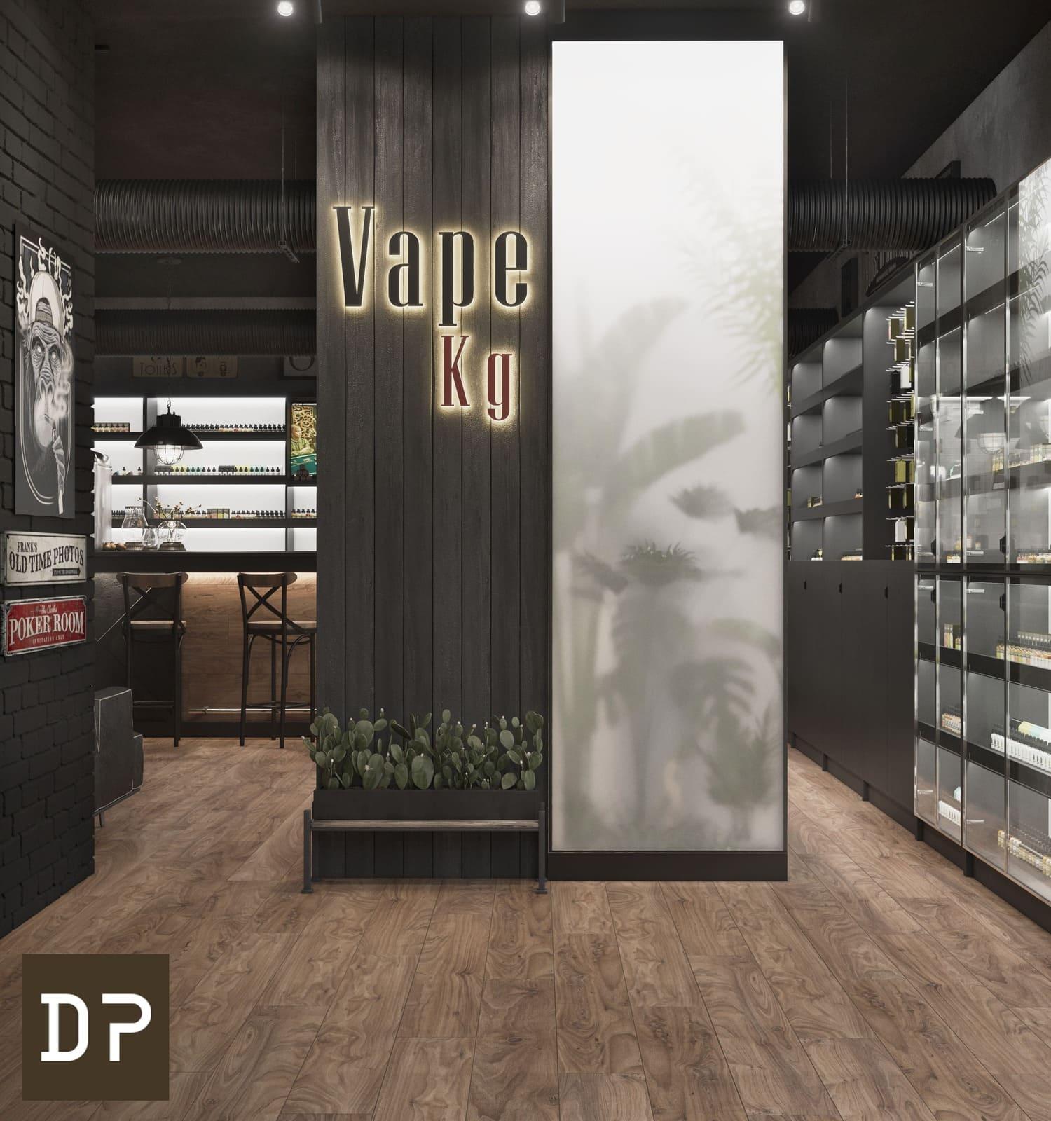 Дизайн проект в стиле лофт для продукции Vape